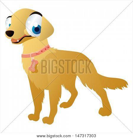 vector funny cartoon cute colorful animal image. Dog breeds, Retriever