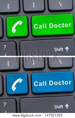 Closeup Of Call Doctor Buttons