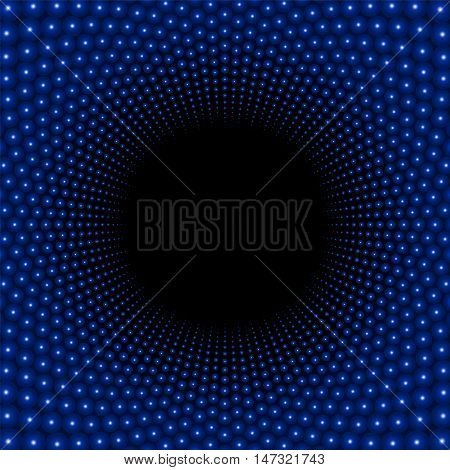 Black hole background pattern with dark center.