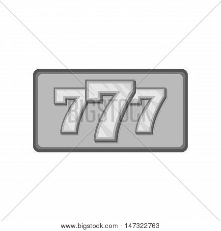 Triple lucky sevens icon in black monochrome style on a white background vector illustration