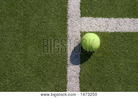 Tennis Ball And Lines