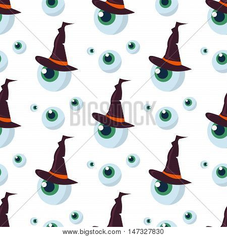 Halloween seamless pattern eye decoration ghost. Scary horror design halloween seamless pattern spooky silhouette. Holiday october scary halloween seamless pattern fear texture.