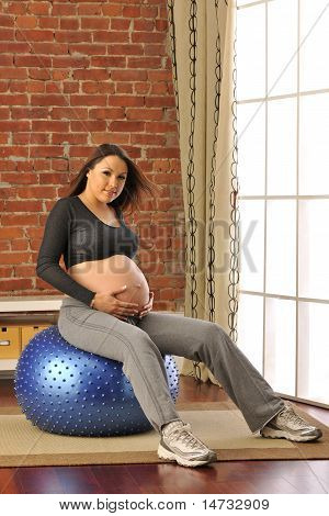 Expecting Mother Exercising