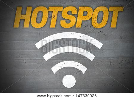 Hotspot wlan icon concept background template picture