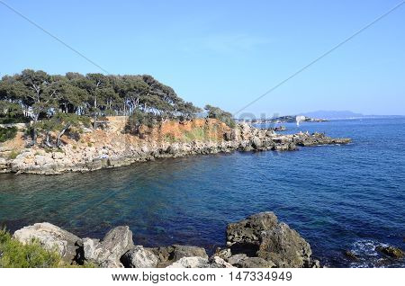 landscape of Sea and coast in Bandol French riviera France