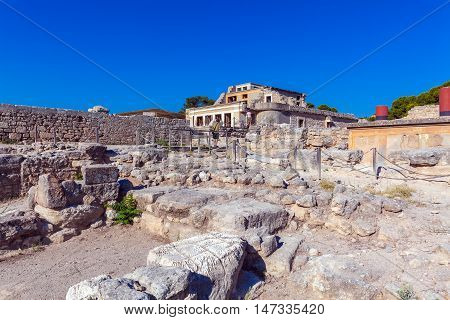 Knossos Palace Ruins in Heraklion Crete Greece