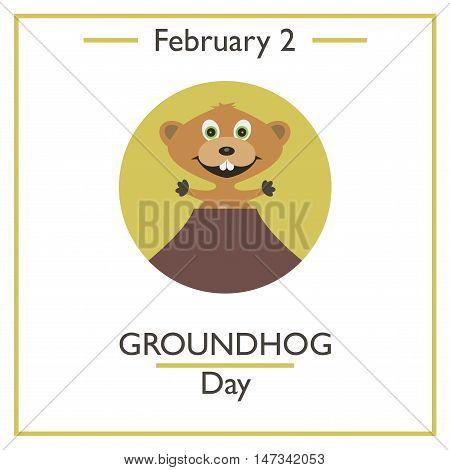 Groundhog Day. February 2