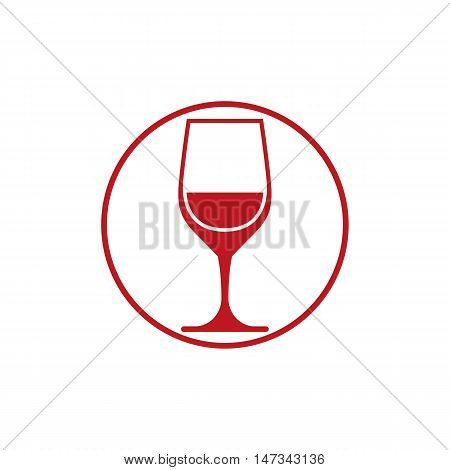Winery theme classic wine goblet isolated on white.