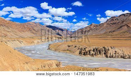 Landscape of Manali-Leh highway Jammu and Kashmir India