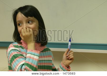 Girl With Whiteboard