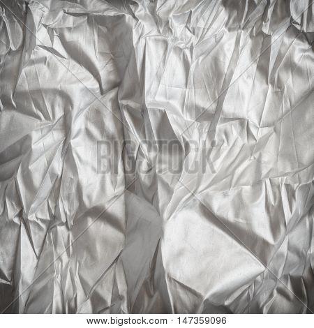 Creased white cloth ,Elegant folds of white silk.