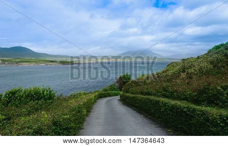 Way down in Dingle Bay, sky and ocean