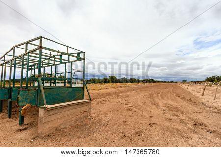 Starting Gate Of A Rural Racecourse In Catamarca, Argentina