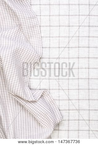 tablecloth on tablecloth background crumpled fabric background