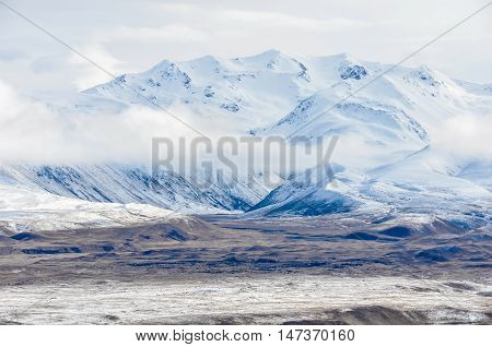 Snowy Mountains In Lake Tekapo, New Zealand
