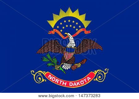 Flag of North Dakota is the state in United States