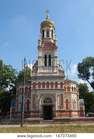 Orthodox church of St. Alexander Nevsky. Lodz, Poland September 11, 2016 The historic Orthodox Cathedral of St. Alexander Nevsky (1894) in Lodz.