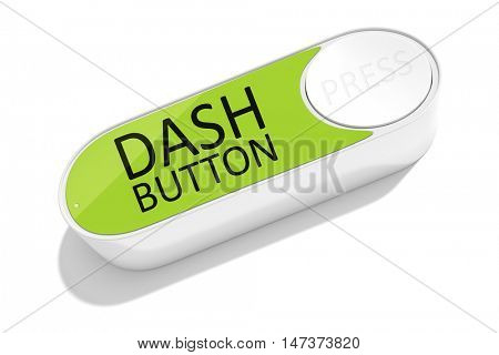 3d rendering of a dash button to order things