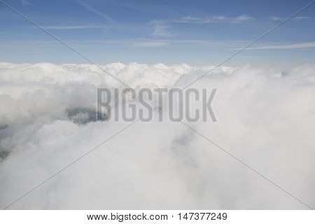Clouds from the plain view of france