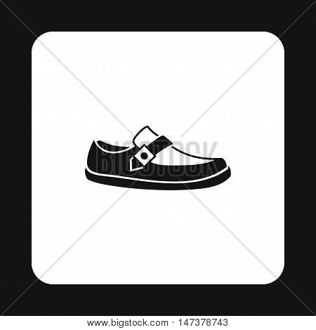 Mens moccasin icon in simple style isolated on white background. Wear symbol vector illustration