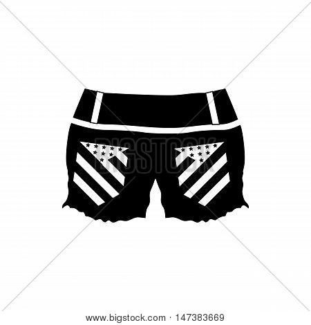 Womens shorts icon in simple style isolated on white background. Clothing symbol vector illustration