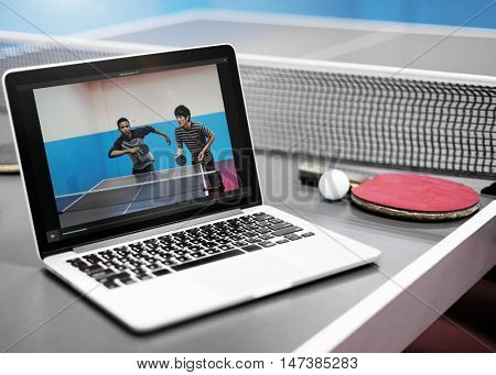 Table Tennis Ping Pong Replay Athlete Amateur Concept