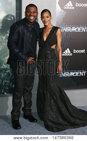 NEW YORK-MAR 16: Actor Mekhi Phifer (L) and wife Reshelet Barnes attend the U.S. premiere of
