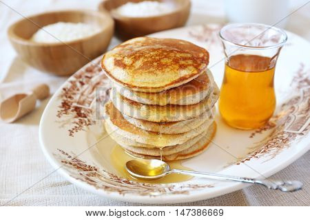 Gluten-free: Pancake with rice milk and rice flour and ingredients