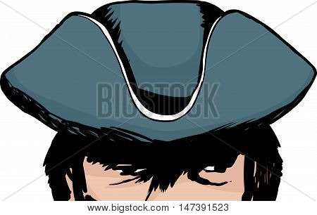 Shadowed Eyes Of Man In Tricorn Hat