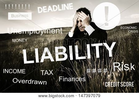 Business Failure Bankruptcy Financial Crisis Recession Concept
