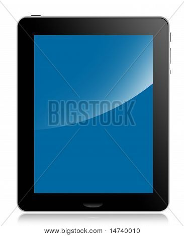 Tablet Computer or pad, blue screen
