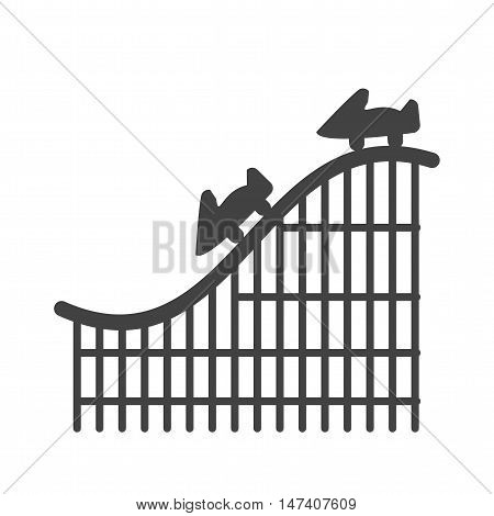 Coaster, roller, ride icon vector image. Can also be used for circus. Suitable for mobile apps, web apps and print media.