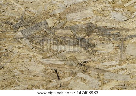 texture of wooden oriented strand board (OSB)