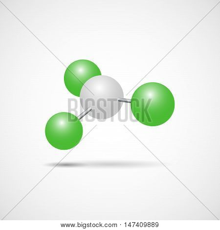 Vector sign nucleus of an atom nuclear energy