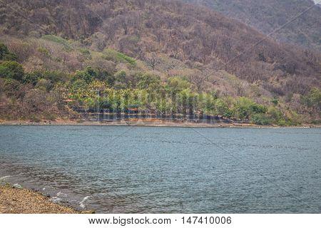 Lake Laguna de Apoyo from Nicaragua, Central America