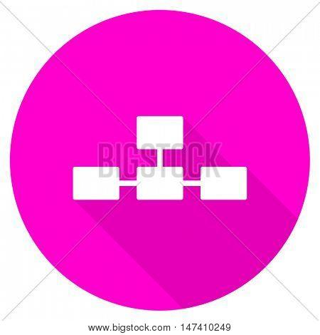 database flat pink icon