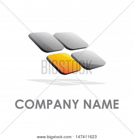 Vector sign for business, isolated on white