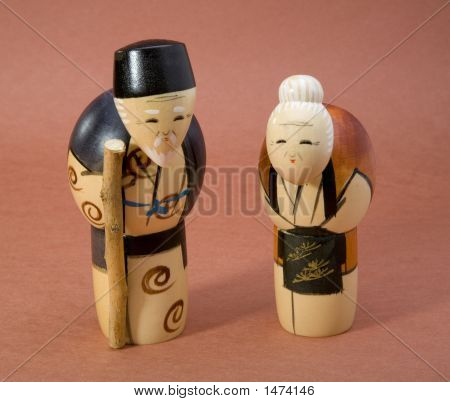 Japanese Wood Dolls