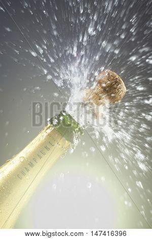 Champagne cork popping