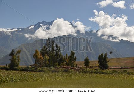 Andean Landscape with Low Clouds