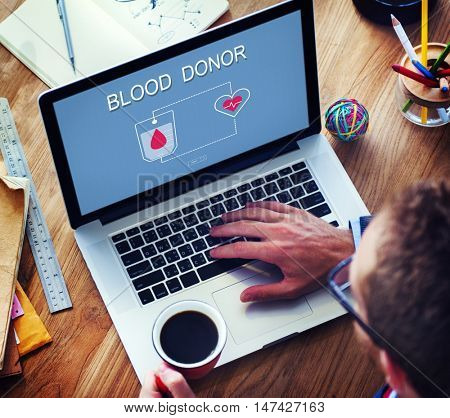 Blood Donation Give Life Transfusion Concept