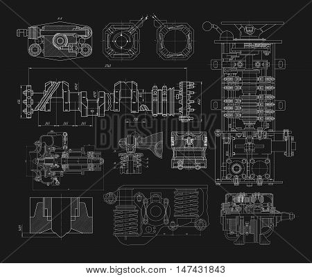 Set Of Technical Drawings