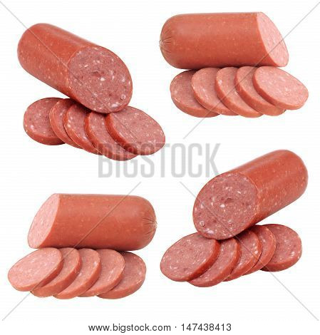 The sausage collection isolated on white background