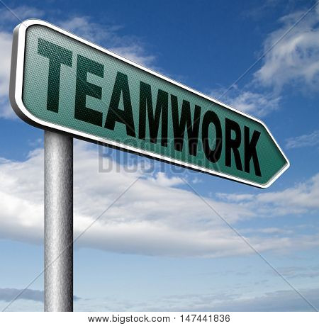 teamwork coorporation working together team work 3D illustration