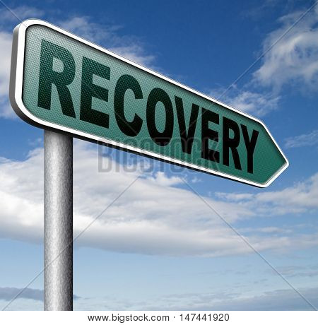 recovery after recession or injury 3D illustration
