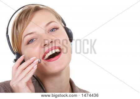 The Girl The Operator Works At Office