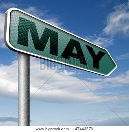 May to next month of the year spring event calendar 3D illustration