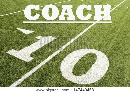 Ten Yard Line with the word Coach