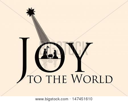 Joy to the World Nativity Scene with Star