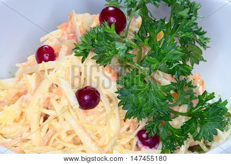Appetizer Of Pickled Cabbage